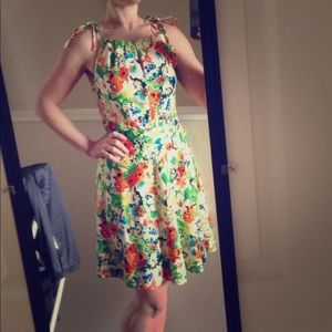 Coconinno by Eva Franco summer floral dress lined